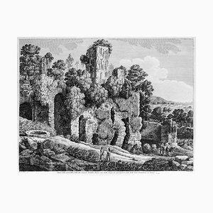 Avanzi delle rovine della Villa ... - Original Radierung von L. Rossini - 1826 1826