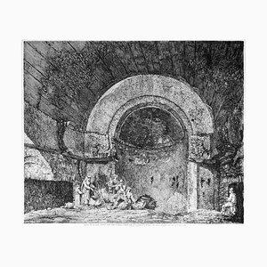 Avanzi di una Sala Termane... - Original Etching by L. Rossini - 1824 1824