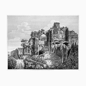 Veduta degli Avanzi della Villa ... - Original Radierung von L. Rossini - 1825 1825