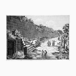 Veduta della Strada Antica fuori della Città... - by L. Rossini - 1826 1826