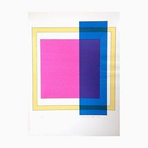 Affiche Composition X - Sérigraphie par Franco Cannilla - 1971 1971