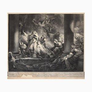 Le Grand prêtre Coresus - Original Radierung von J-Danzel - Spätes 18. Jahrhundert 1760-1800