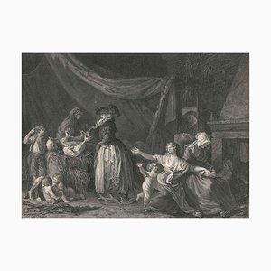L'Acte d'Humanité - Original Etching Jean De Fraine by Robert Delaunay - 1786 1786