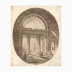 Capriccio - Original Aquatint by Abbé de Saint-Non - Late 18th Century 1750-1799