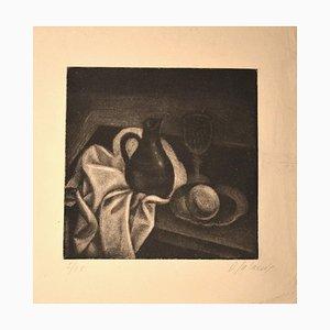 Nature Morte au Pichet - Original Manière Noir von Demetrios Galanis - ca. 1925 Ca. 1925