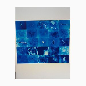 Blau - Original Siebdruck von Pino Settanni - ca. 1970 1970