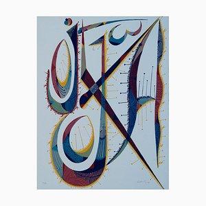 Letter J - Original Lithograph by Raphael Alberti . 1972 1972