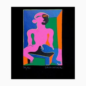 Stampa Pink Man - Original di Fritz Baumgartner - 1970 ca. 1970