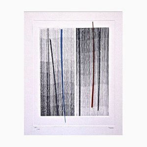Lines - Original Etching by Guido Strazza - 1980 ca. 1980