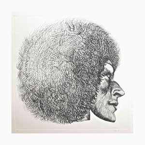 Profile - Original Etching by Giacomo Porzano - 1972 1972
