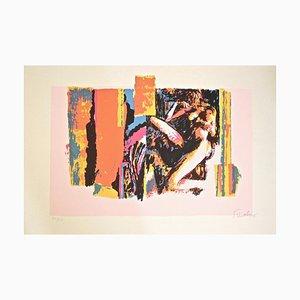Nude Lying Model - Original Screen Print by Nicola Simbari - 1976 1976