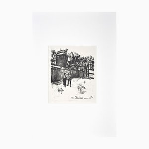 The Walk - Original Lithographie von Maurice Utrillo Anfang 1900