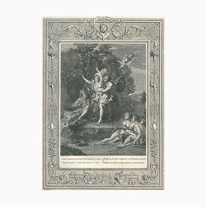 Daphné et Apollon, from ''Temple des Muses'' - Etching by B. Picart - 1742 1742