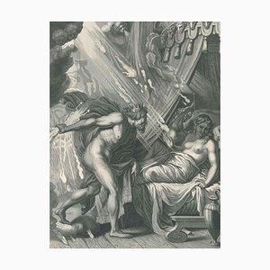 La Foudre de Jupiter Contre Semelé Etching by B. Picart, 1742