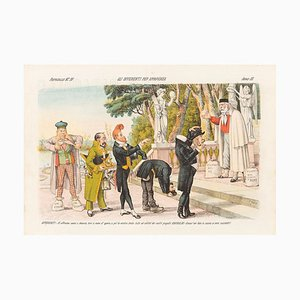 Bidders for Appearance - Lithograph by Augusto Grossi - 1870s 1870s