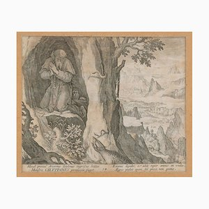 Caluppanus - Original Etching by Johannes Sadeler Late 16th Century