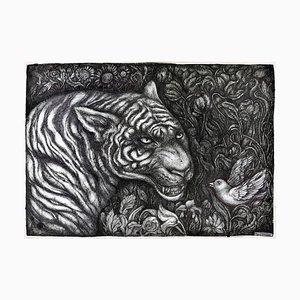The Tiger - Original China Ink on Paper de Maria Ginzburg - 2018 2018