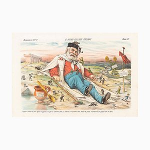 A New Italian Gulliver - Lithograph by Augusto Grossi - 1870s 1870s