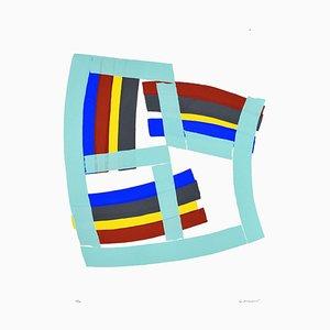 Untitled Abstrakte Komposition-Original Siebdruck von Luigi Montanarini - 1970s 1970s
