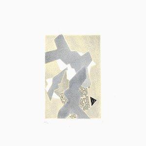 Composition Abstraite - Original Mixed Media par Hans Richter - 1973 1973