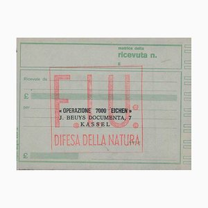 Operation 7000 Eichen - Original Receipt by Joseph Beuys - 1984 ca. 1984 ca.