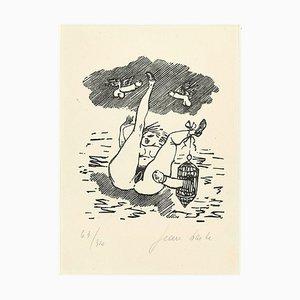 Sexual Desire - Linocut on Paper by Jean Barbe / Mino Maccari - 1945 1945