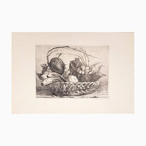 Still Life - Original Etching by Giovanni Barbisan - 1967 1967