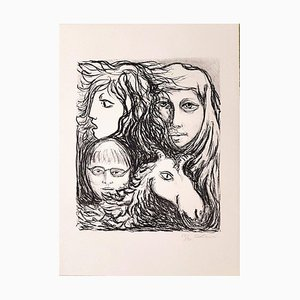 Untitled - Original Lithograph by Carlo Levi - 1971 1971