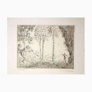 Nymphe et Faunes - Original Radierung von K.-X. Roussel - 1900 ca. Ca. 1900