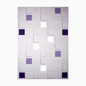 Square (White) - Original Siebdruck von A. Mengolini - 1976 1976