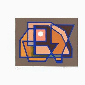 The Sun - Original Screen Print by Mario Radice - 1964 1964