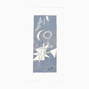 Ciel Gris II - Original Lithograph by Georges Braque - 1959 1959