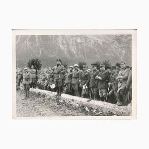 The manoeuvres of the Brenner - Original Vintage Photo - 1935 1935