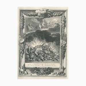 La Mort d'Hercule - Original Etching by by B. Picart - 1742 1742