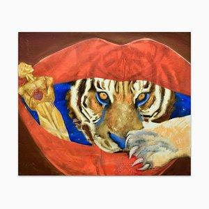 Huile sur Toile Tigre par Anastasia Kurakina - 2000s 2000s