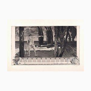 Ikarus und Daedalus - Original Etching by Fritz Zalisz - 1914 1914