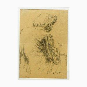 Grandmother - Original Pencil Drawing by Giuseppe Mazzullo - 1933 1933