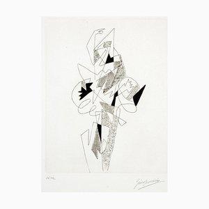 Arlecchino - Original Etching by G. Severini - 1964 1964