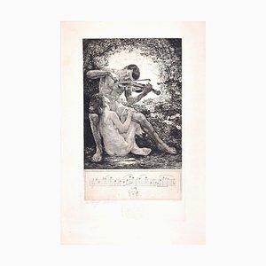 Rosenlaube - Original Etching by Bruno Héroux - 1909 1909