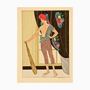 Male Figure - Original Stencil by Leonardo Brunelleschi - 1920 ca. 1920 ca.