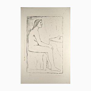 Seated Nude - Original Lithograph by Carlo Carrà - 1920 ca. 1920 ca.