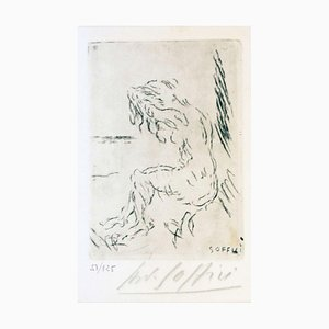 Nude on the Beach - Original Etching and Drypoint by A. Soffici - 1957 1957