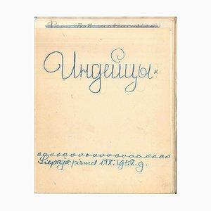 Carnet de Voyage - Sioux Indianer - Vordruckalbum von I. Sermonski - 1910/1950 1910-1950