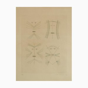 Codex d'un Visage - Original Etching by Victor Brauner - 1962 1962