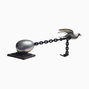 Perché non voli? - Skulptur aus Eisen von V. Trubbiani - 1973 1973