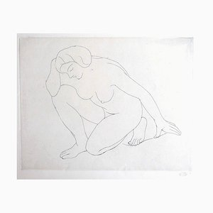 Nude of Woman - Original Etching by Aristide Maillol - 1970 ca. 1970 ca.
