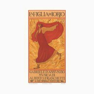 La Figlia di Iorio - Original Color Lithograph by A. De Carolis - 1906 1906