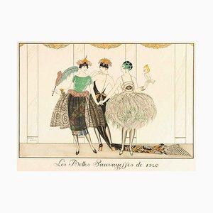 Les Belles Sauvagesses de 1920 - Original Pochoir von G. Barbier - 1920 1920