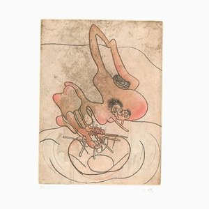 Untitled Plate 9 from Paroles Peintes Suite - 1970s - Sebastián Matta 1971