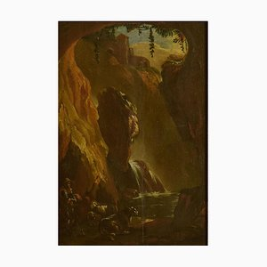 The Cavern - Original Oil on Panel by Ottavio Viviani - Early 17th Century Early 17th Century